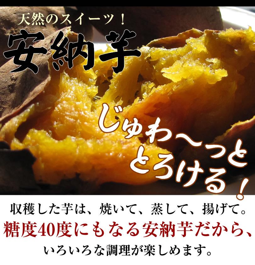 糖度40度にもなる安納芋は、じゅわーととろけて美味しい!